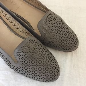J. Crew-Taupe Laser Cut Flats Loafers Shoes